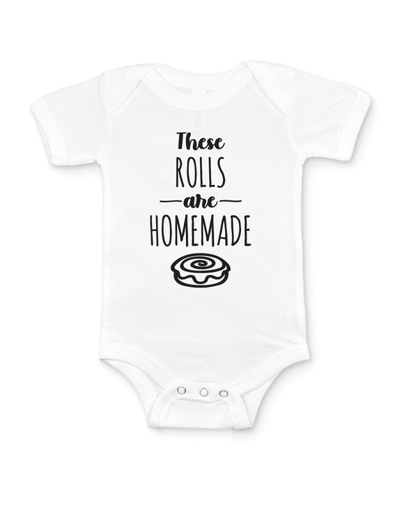 These Rolls are Homemade Baby Bodysuit