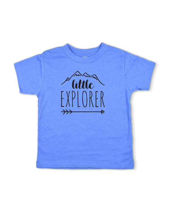 Little Explorer Blue Toddler Boy Shirt