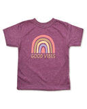 Heather Maroon Toddler Crew Tee