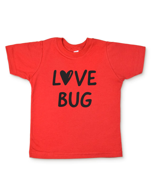 Red Love Bug Toddler Shirt