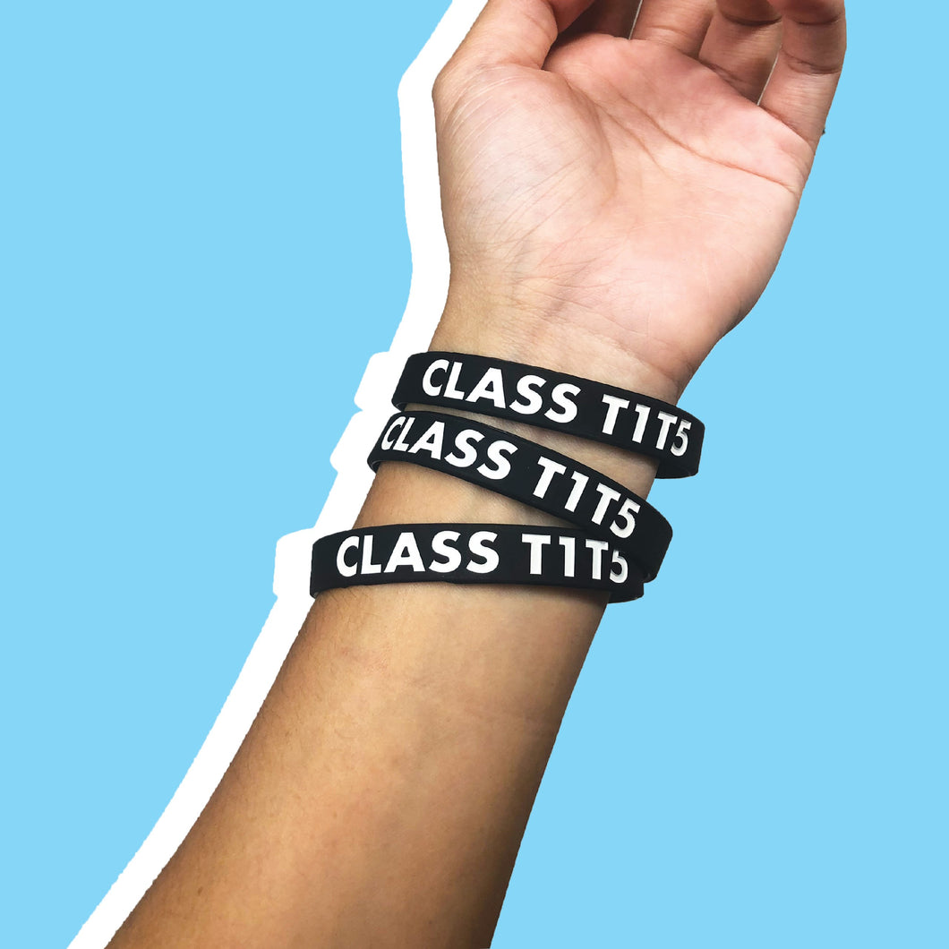 T1T5 WRISTBANDS BLACK (SET OF 3)