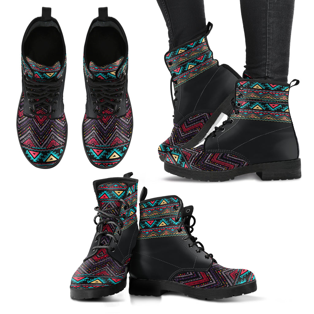 Boho Pattern 2 Handcrafted Boots