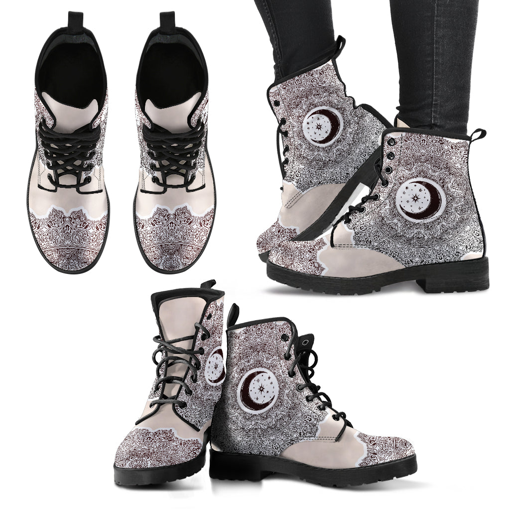Moon and Star Women's Leather Boots