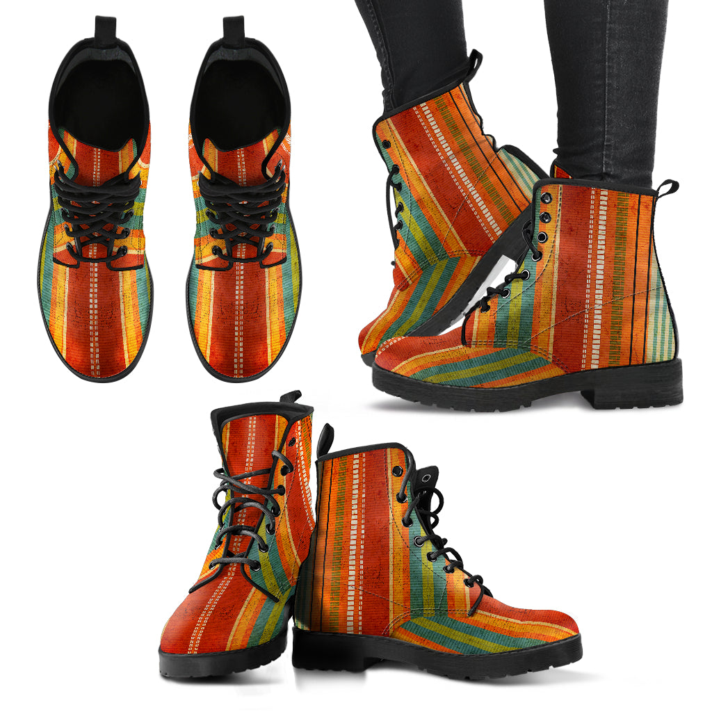 Bohemian Stripe Handcrafted Boots
