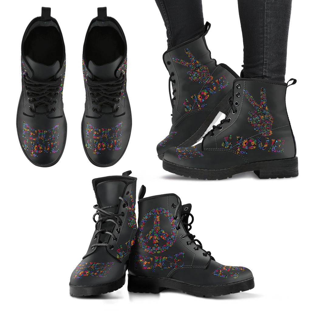 Peace Love Women's Leather Boots