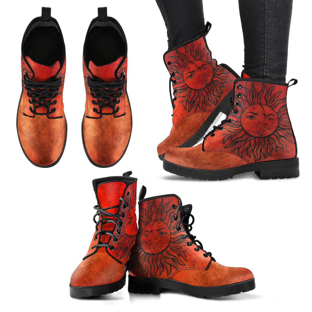 Sun and Moon Women's Leather Boots