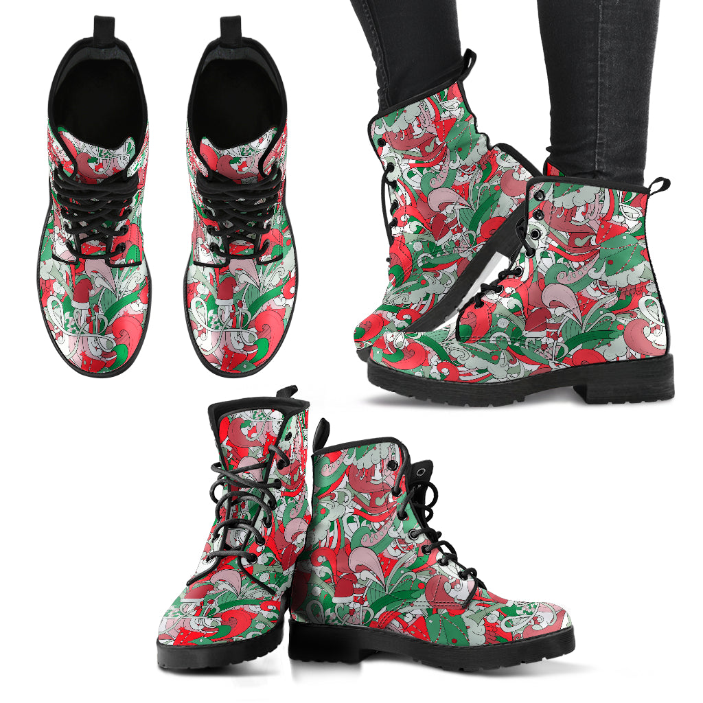 Festive Funk P11 - Leather Boots for Women