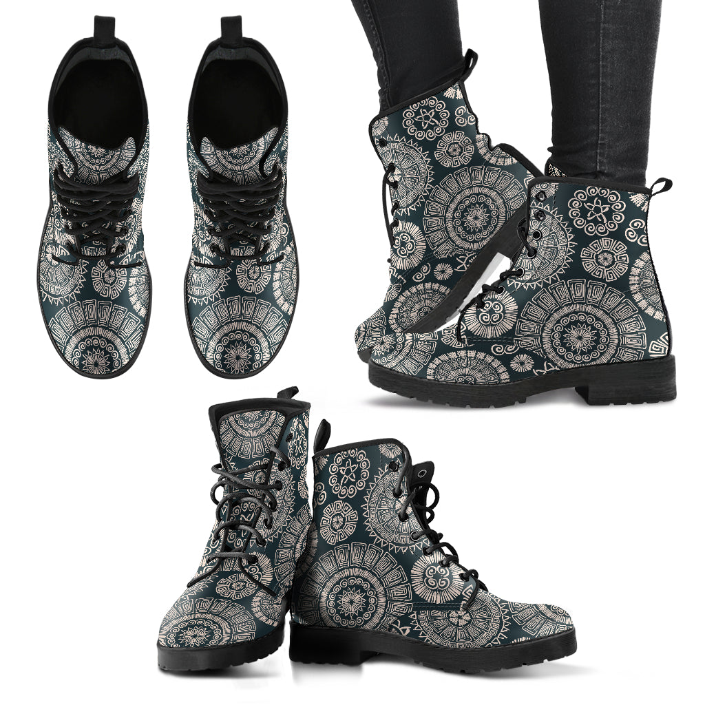 Tribal Mandala Handcrafted Boots