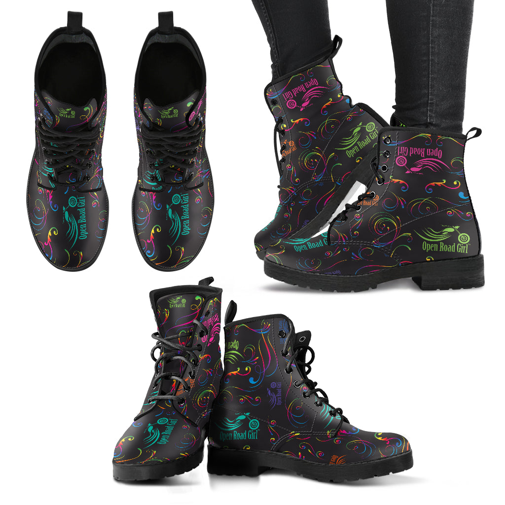 Rainbow Open Road Girl Women's Leather Boots