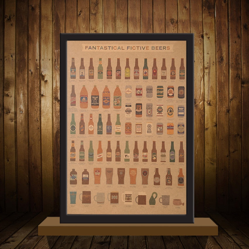 "Poster kraft ""Guinness Of Beer"" - Les Doux Raveurs"