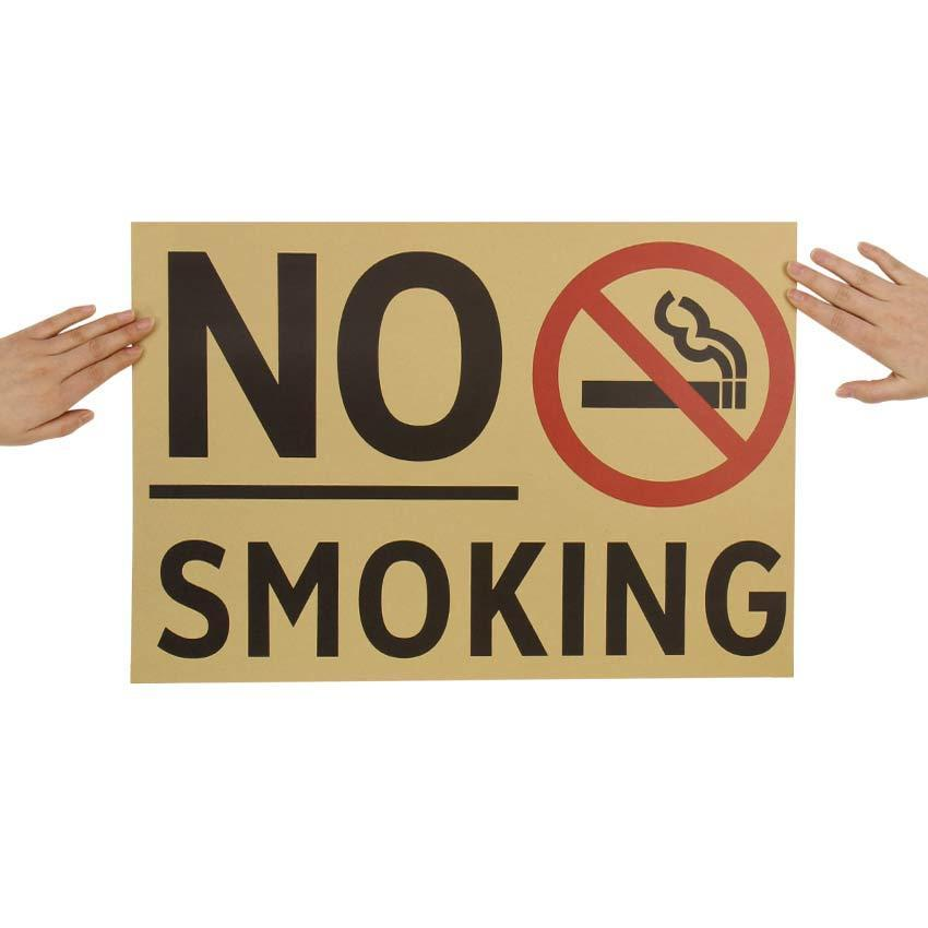 "Poster Kraft ""No Smoking"" - Les Doux Raveurs"