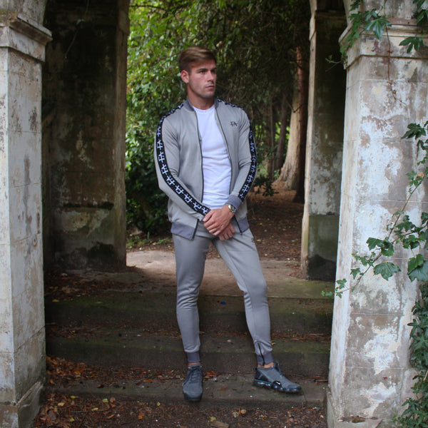 Taped 'FA' Tracksuit-Grey - fallenangel-s