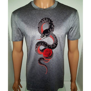 Snake Rose Tee - fallen angels