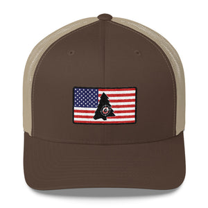 Pine Tree Flag Silhouette Trucker Cap