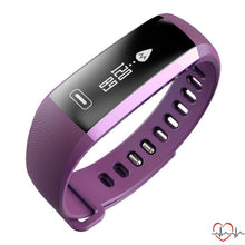 Smart Sport Bracelet Watch Intelligent For Ios Android Purple