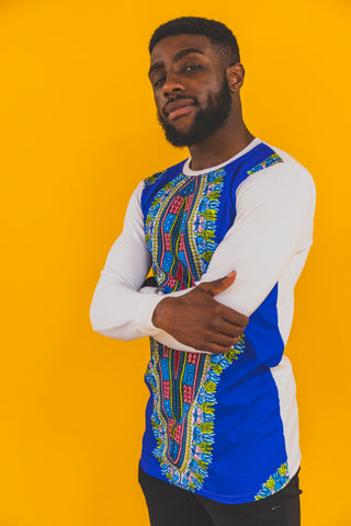 WHITE SLEEVED DASHIKI SHIRT
