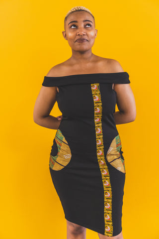BLACK LANGA DRESS