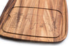 Acacia Wood - Steak Barbecue Plate: Cow - Ironwood Gourmet