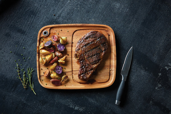 Acacia Wood - Fort Worth Steak Plate - Ironwood Gourmet