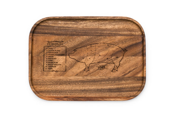 Acacia Wood - Small Steak Board: Pig - Ironwood Gourmet