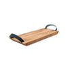 Acacia Wood - Small Florence Serving Board With Leather Handles - Ironwood Gourmet