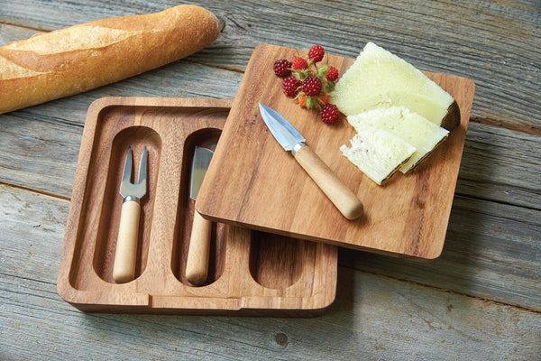 Acacia Wood - Alkmaar Cheese Board and Knife Set - Ironwood Gourmet