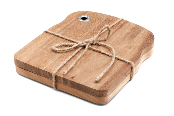 Acacia Wood - Rustica Sandwish Boards, Set of 2 - Ironwood Gourmet