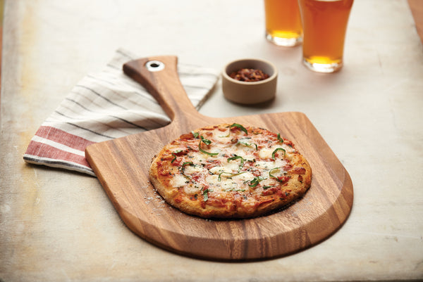 Acacia Wood - Lucca Mini Pizza Peel - Ironwood Gourmet