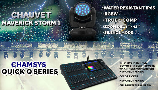 Chauvet Storm ip65 & Chamsys Quick 20