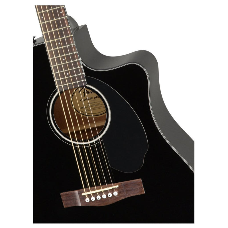 Fender CD-60SCE Guitarra Electroacústica Dreadnought Negro