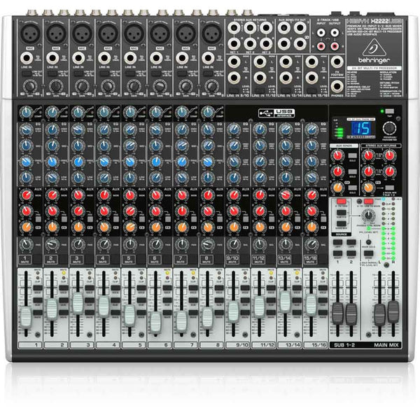 Behringer XENYX X2222USB 22-Input USB Audio Mixer with Effects
