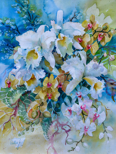 Original - The Bouquet of White Orchids