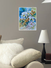 Poster- Bouquet mit weissen Rosen (Bouquet with White Roses)