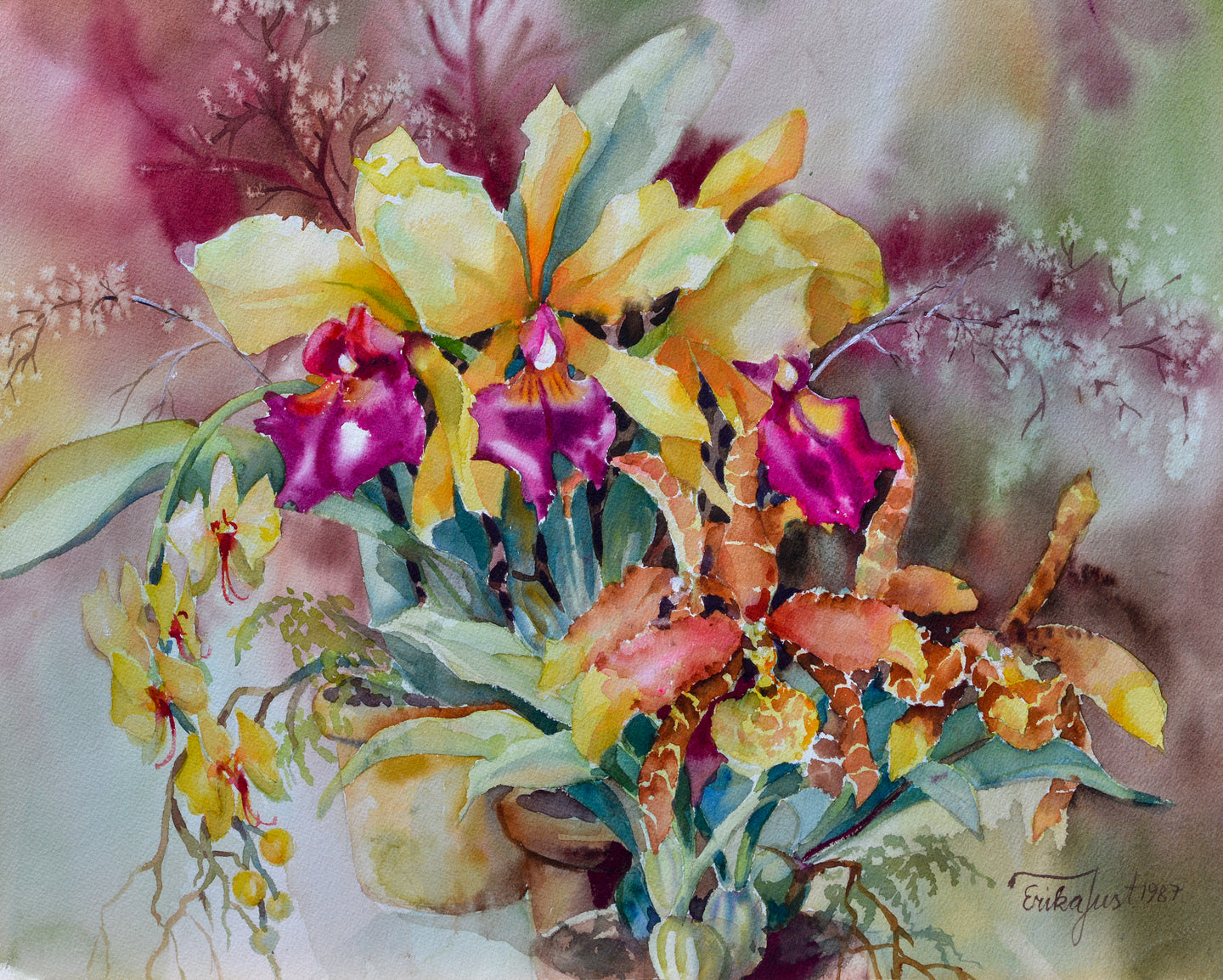 Original - Yellow Orchids