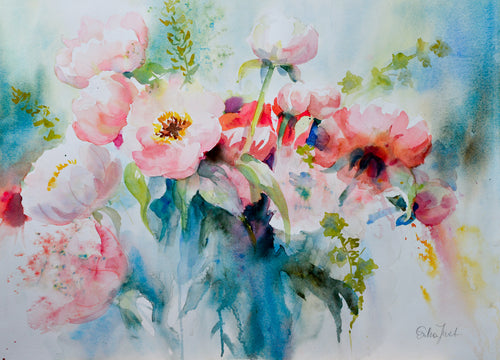 Canvas Print - Chinese Peonies