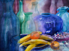 Poster-  Blaues Stilleben und Bananen (Blue Still Life with Bananas)