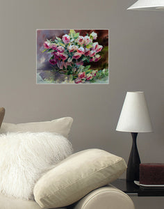 Canvas Print - Large Rose Bouquet