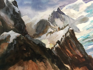 Original -  Schneebedeckte Bergspitzen (The Snow Capped Mountains)