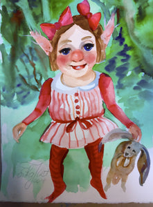 Gnome Poster 'Rosalie'