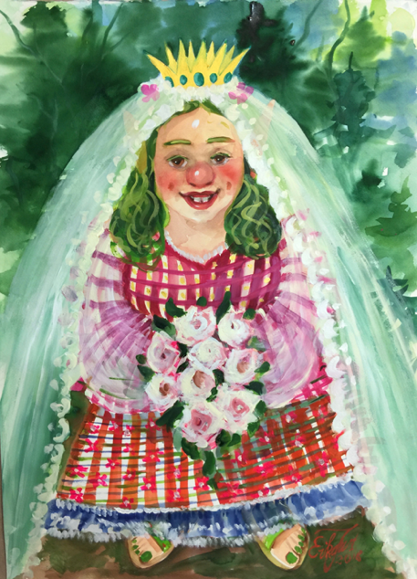 Gnome Print - Crown Princess Gundi as a Bride
