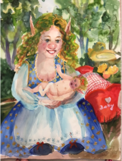 #7 Original - Gnome 'Princess Gundi & Baby