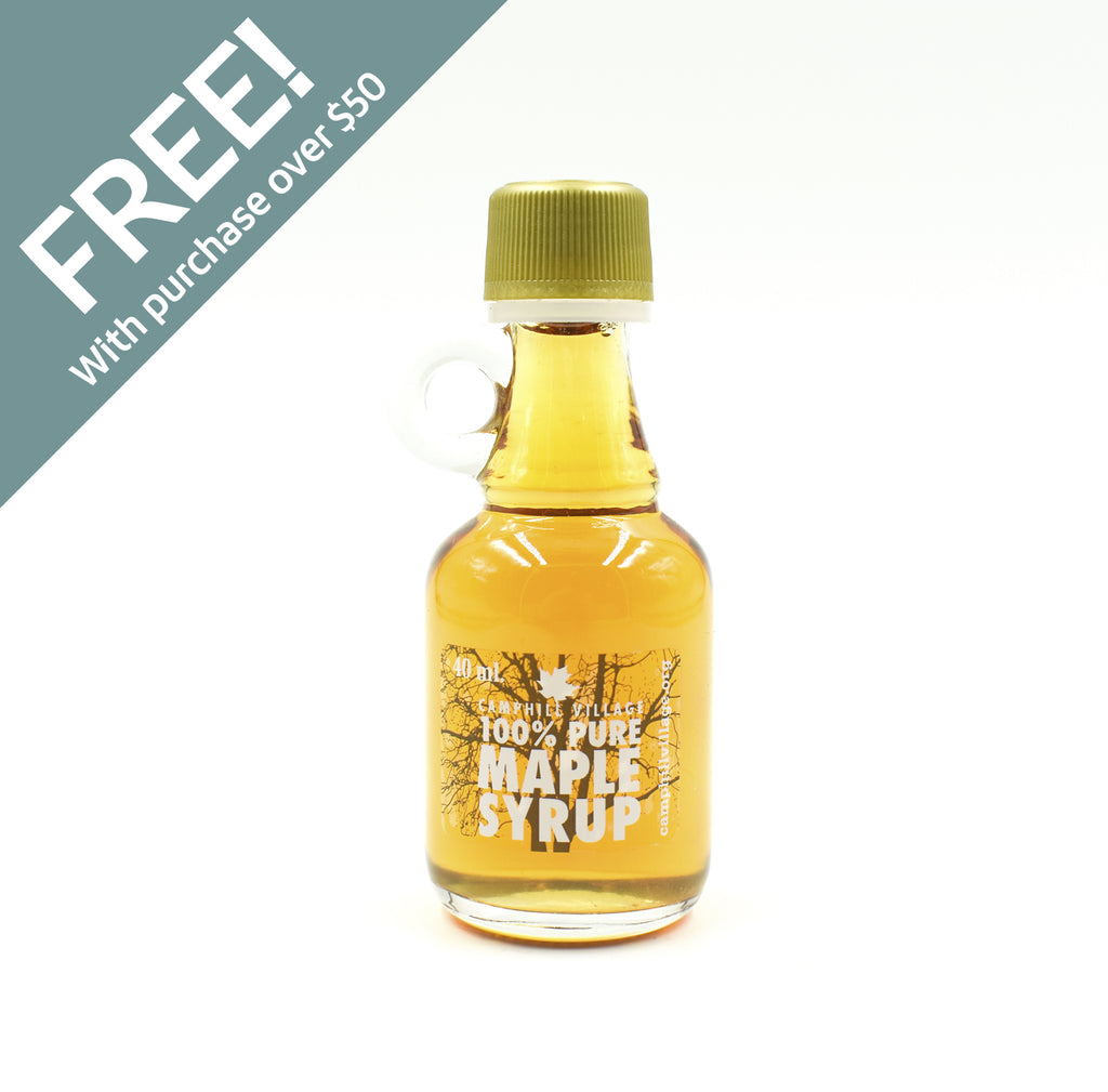100% Pure Maple Syrup -  40 ml Glass Bottle