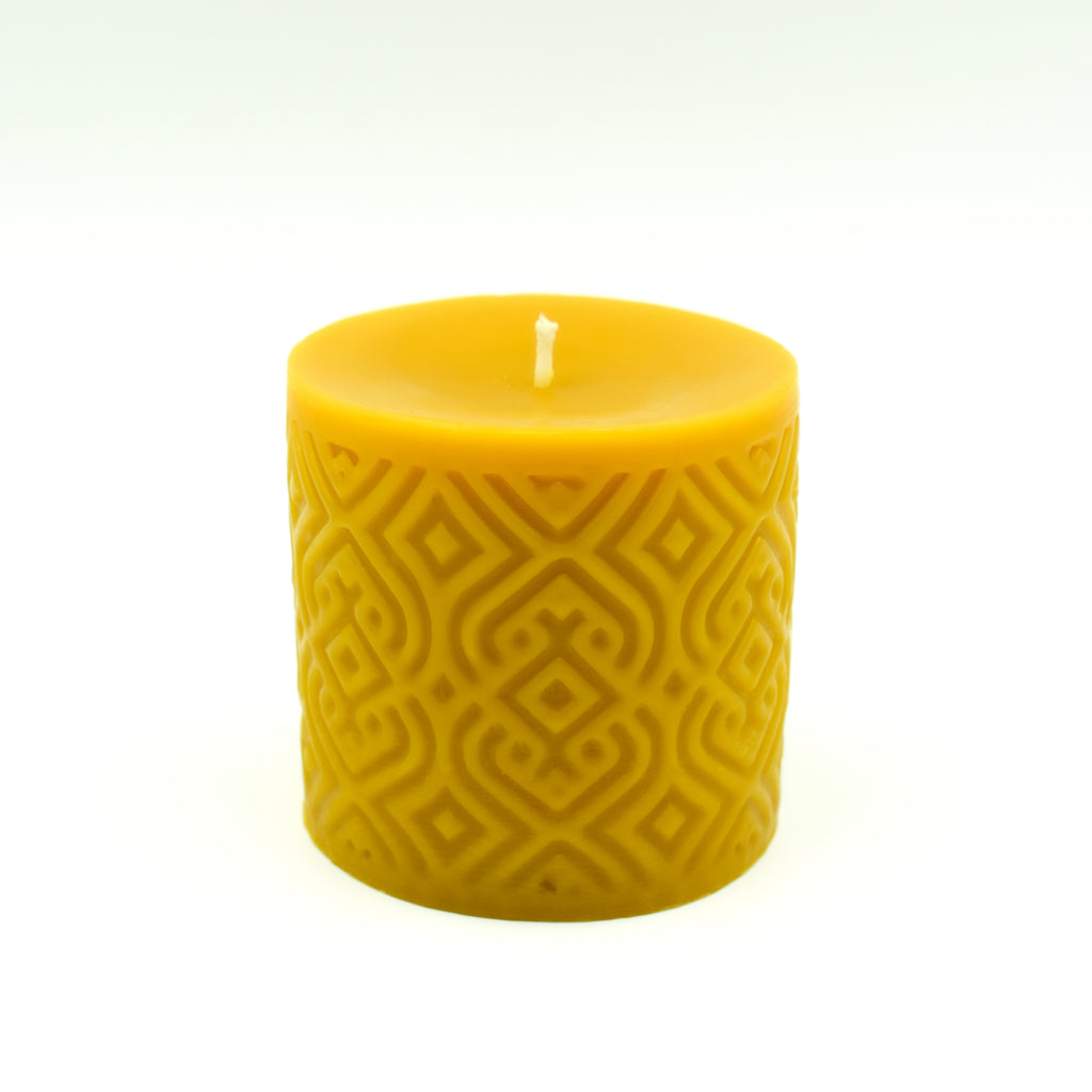 Braided Pillar Candle - Pure Beeswax