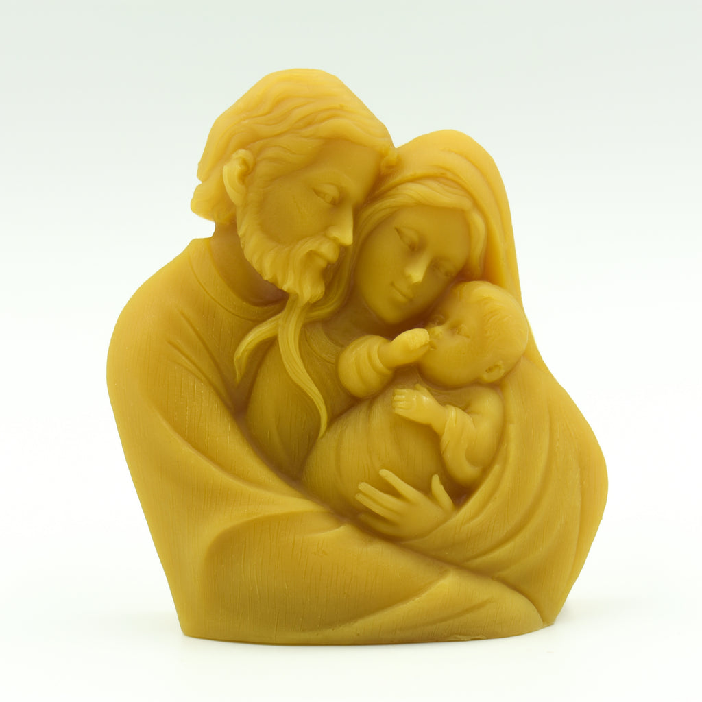 Holy Family Beeswax Relief
