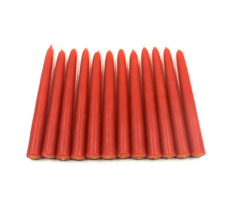 "Tree Candles 4.5"" x 0.5""- 12 pack - Red Beeswax"