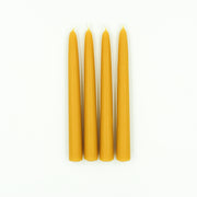 "4 Natural Beeswax Tapers 8"" or 10"""