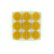 Tea Lights 9 pack - Pure Beeswax