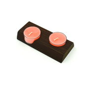 10 beeswax TeaLights + Timber Wood TeaLight Holder