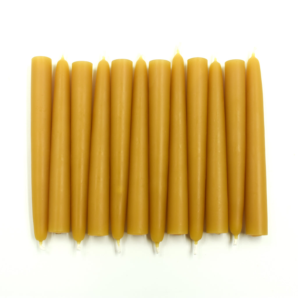 "Tree Candles 4.5"" x 0.5"" Bulk of 56 x 12 pack - Natural Pure Beeswax - FREE SHIPPING!"