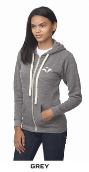 Full Zip Hoodie Organic Cotton and Recycled Polyester with embroidered Logo